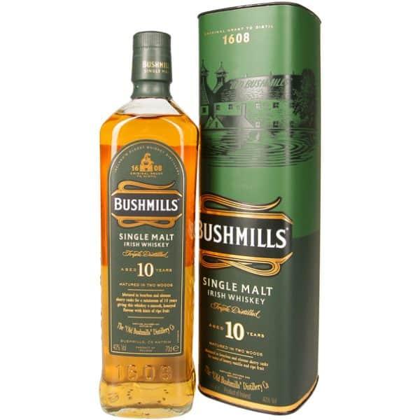 Bushmills 10y + GB 40% Vol. 0,7l