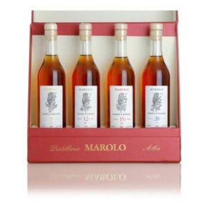 Marolo Grappa di Barolo For 4 + GB 50% Vol. 4×0,2l Grappa Distilleria Santa Teresa