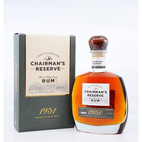 Chairman's Reserve Finest Rum 1931 + GB 46% Vol 0,7l