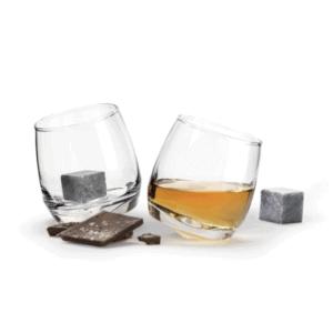 Whiskeyglas mit Whiskysteinen SET Barstuff Bourbon
