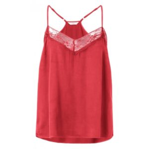 Camisole mit Spitzeneinsatz BRIGHT RED Angebote DRESS YAYA The Brand