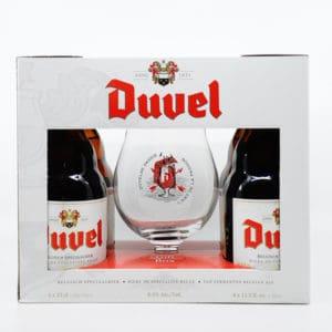 """""""Duvel"""" Geschenkset 8,5% Vol. 4×0,33l + 1 Glas Bier Beer"""