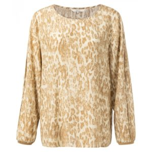 Bluse mit plissierten Ärmeln und Leopardenmuster Angebote DRESS YAYA The Brand