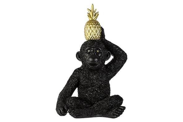 Dekoaffe mit Ananas gross Dekoration Affe