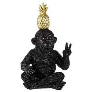 Dekoaffe mit Ananas klein Dekoration Affe