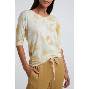 T-Shirt aus Baumwollmischung in Schnurbatik-Optik Angebote DRESS YAYA The Brand
