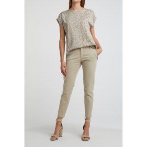T-Shirt aus Modal mit Rundsaum und Schlangenledermuster Angebote DRESS YAYA The Brand