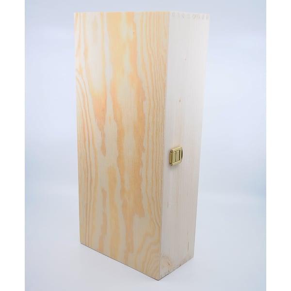Weinkiste 2er Wein Zubehör Geschenksbox Holz