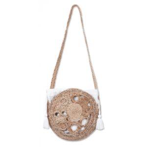 Runde Tasche aus Jute, klein Accessoires Tasche
