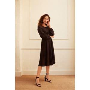 Drapiertes Kleid mit Falten Kleider Kleid