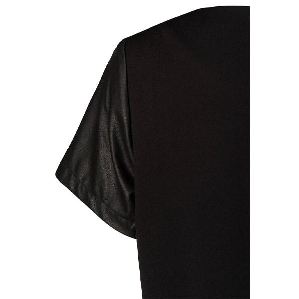 Kunstledertop mit Jersey Angebote DRESS Bluse