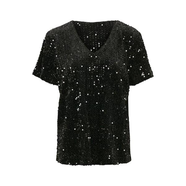 Pailletten-Kurzarm-Bluse Angebote DRESS Bluse