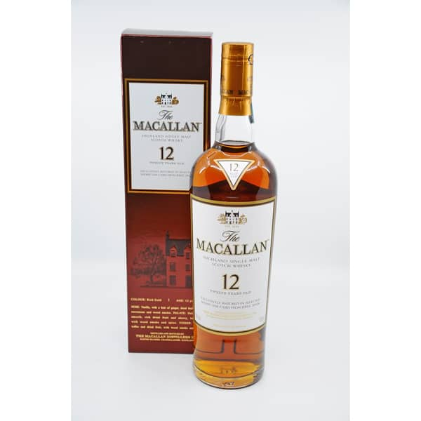 The Macallan 12y Sherry Cask + GB 40% Vol. 0,7l Raritäten Macallan