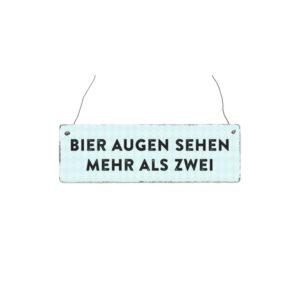 Holzschild BIER AUGEN Schilder Interluxe