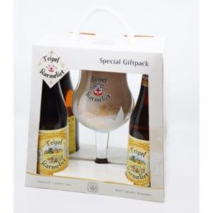 """""""Tripel Karmeliet"""" Geschenkset 8,4 % Vol. 4×0,33l + 1 Glas Bier Beer"""