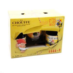 """""""La Chouffe"""" Geschenkset 8% Vol. 4×0,33l + 1 Glas Geschenksideen Beer"""