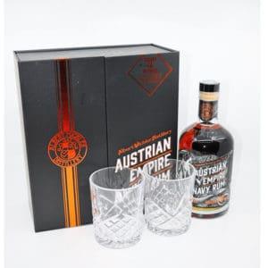 Austrian Empire Navy 18y SET 40% Vol. 0,7l Rum Austrian Empire Navy Rum