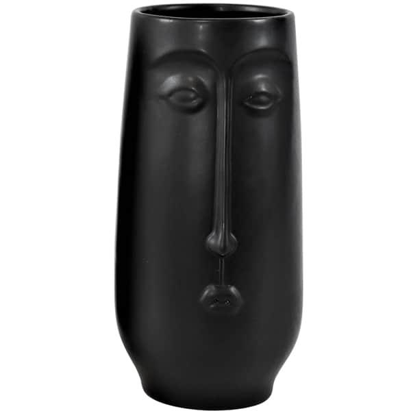 Vase Gesicht Black Dekoration HOFF Interieur