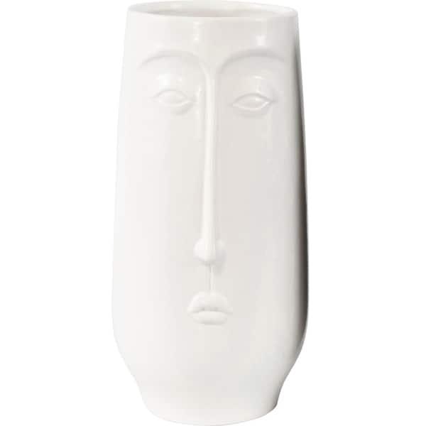 Vase Gesicht White Dekoration HOFF Interieur