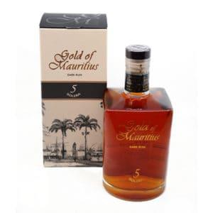 Gold of Mauritius Dark Rum 5y + GB 40,0% Vol. 0,7l Rum Gold of Mauritius