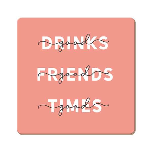 Korkuntersetzer GOOD DRINKS