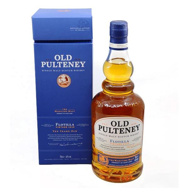 Old Pulteney 10y FLOTILLA 2010 + GB 46% Vol. 0,7l