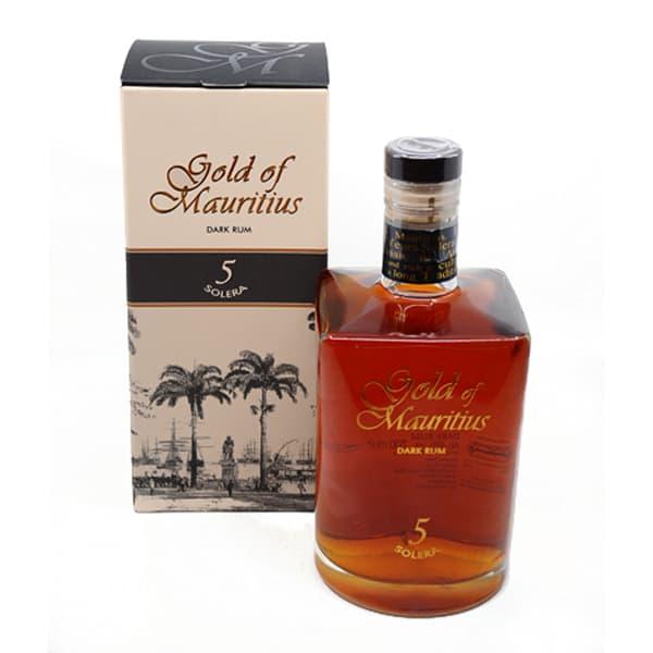 Gold of Mauritius Dark Rum 5y + GB 40,0% Vol. 0,7l