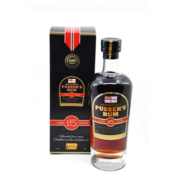 Pusser's British Navy Rum 15y + GB 40% Vol. 0,7l