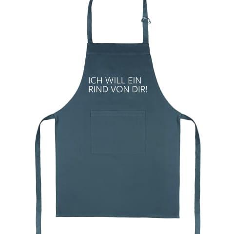 Küchenschürze ICH WILL EIN RIND