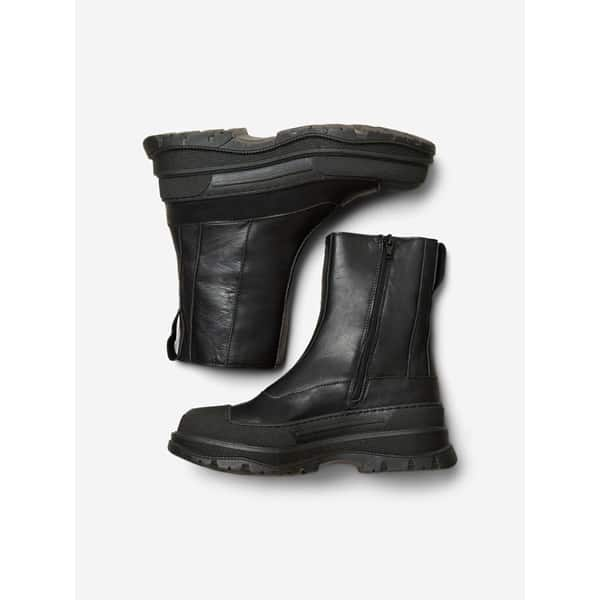Selected Femme Chunky Lederstiefel Accessoires Boots