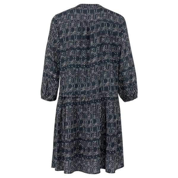 YAYA Gemustertes Kleid mit Knopfleiste Kleider Kleid