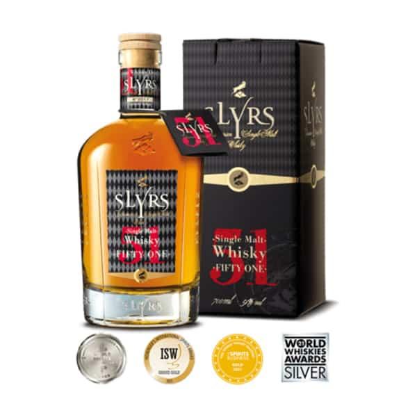 SLYRS Single Malt Fifty One + GB 51% Vol. 0,7l