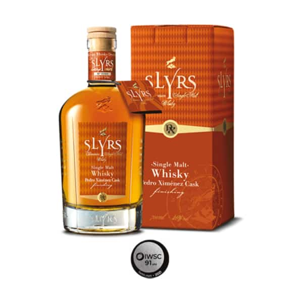 SLYRS Single Malt Pedro Ximénez Cask Finish + GB 46% Vol. 0,7l