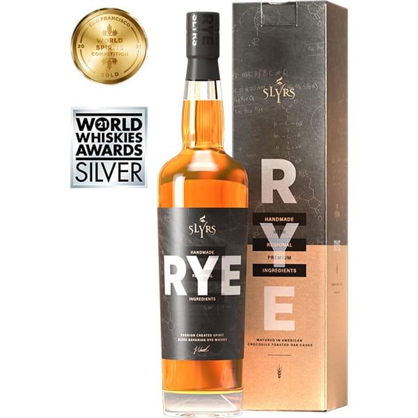 SLYRS Bavarian RYE Whisky + GB 41% Vol. 0,7l